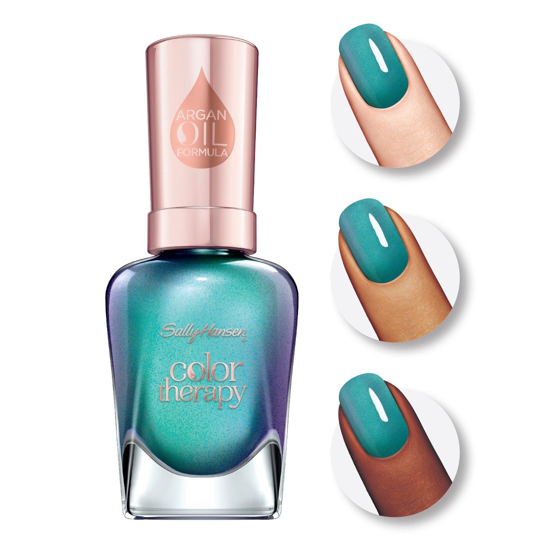 Amazon.com : Sally Hansen Color Therapy Nail Polish, Reflection Pool ...