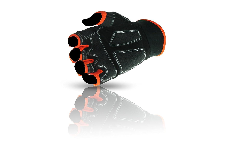 negro y naranja Guantes de seguridad con bolsa ToolFreak