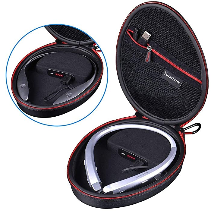 Smatree Charging Case Compatible with LG Tone HBS-900 / HBS-760 / HBS-910 / HBS-750 / HBS-800 / HBS-1100 / HBS-730/HBS 920/HBS 930 Bluetooth Wireless Stereo Headset (Headphone NOT Included)