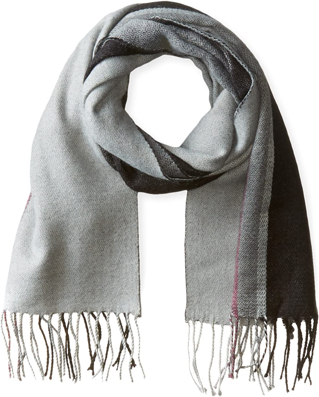 Noble Mount Mens Uptown Premium Knit Striped Scarf