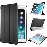 iPad Air 2 Hülle, EasyAcc Ultra Slim Cover Schutzhülle Bumper Lederhülle mit Standfunktion / Auto Sleep Wake Up Funktion für iPad Air 2 2014 Modell Number A1566/ A1567 - Schwarz, Ultra Slim