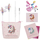 DTMNEP Unicorn Gifts Earbuds Earphones for Girls Kids Compatible with Apple Android with Unicorn Key Chain, Headphone…