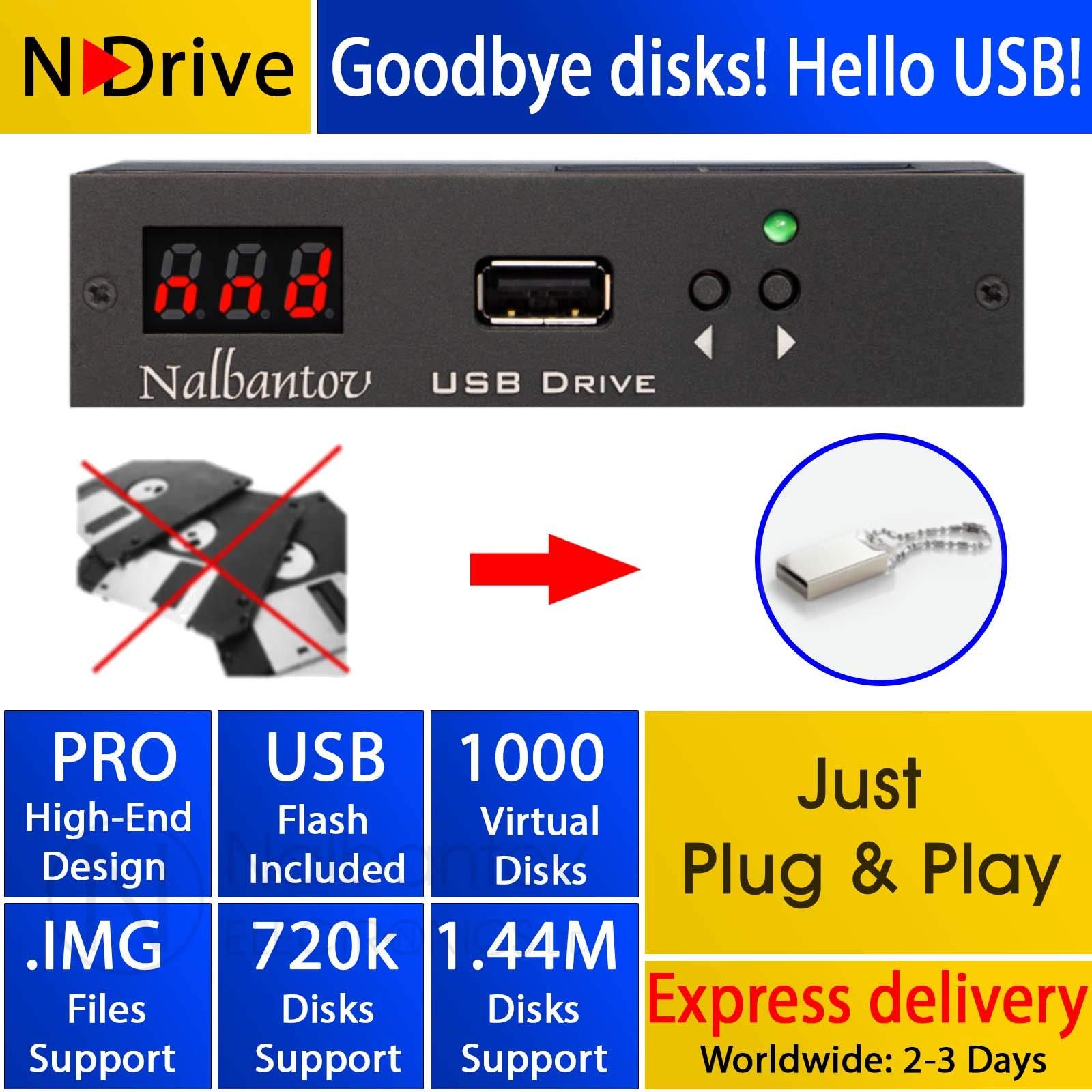 Floppy Disk USB Emulator Nalbantov N-Drive 1000 for Yamaha Disklavier MX100A or MX100B