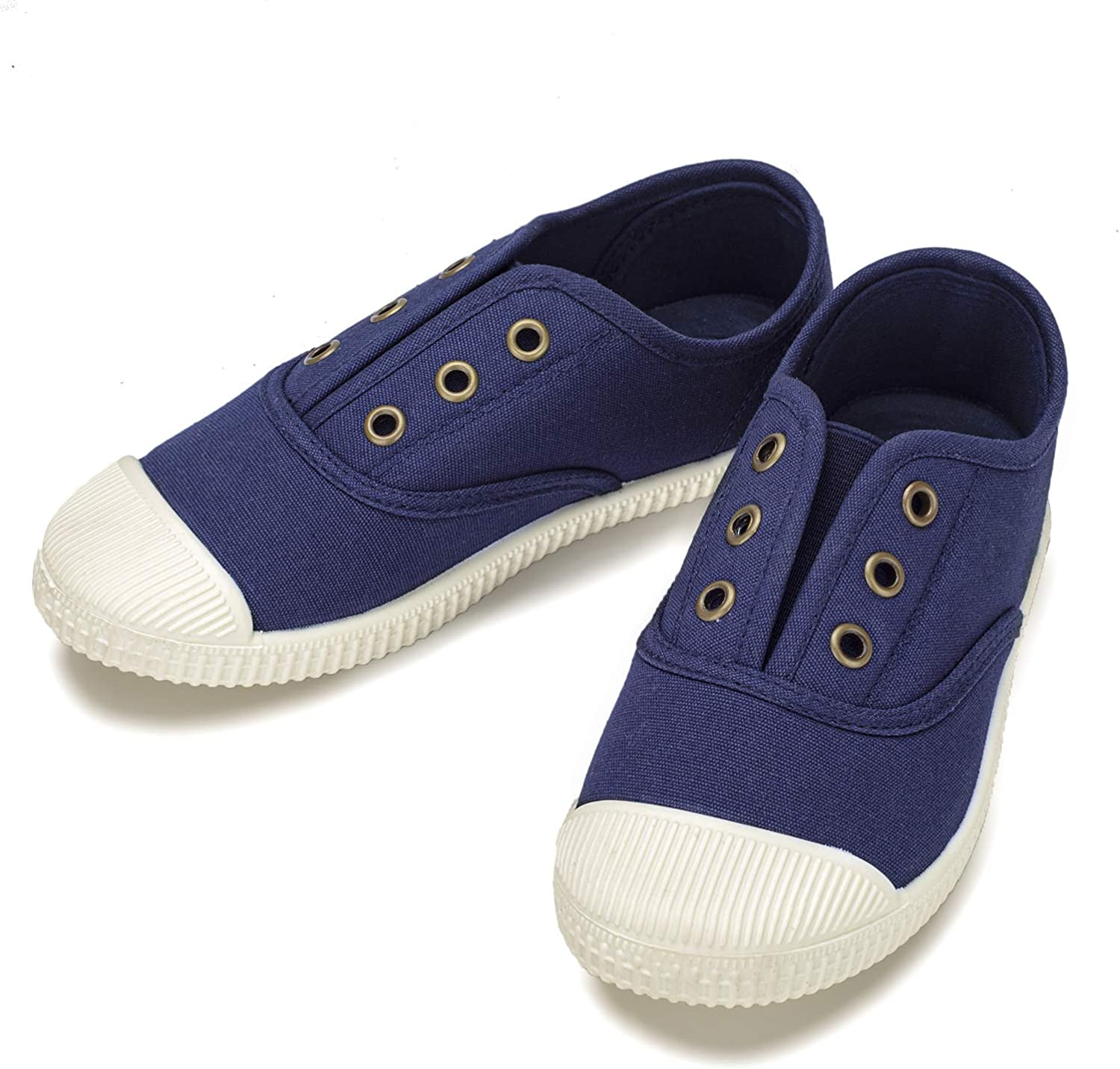 Toddle//Little Kids//Big Kids Kids Shoes Toddlers Canvas Sneakers Slip-on Comfortable Light Weight Skin-Friendly Causal Running Tennis Shoes for Boys Girls