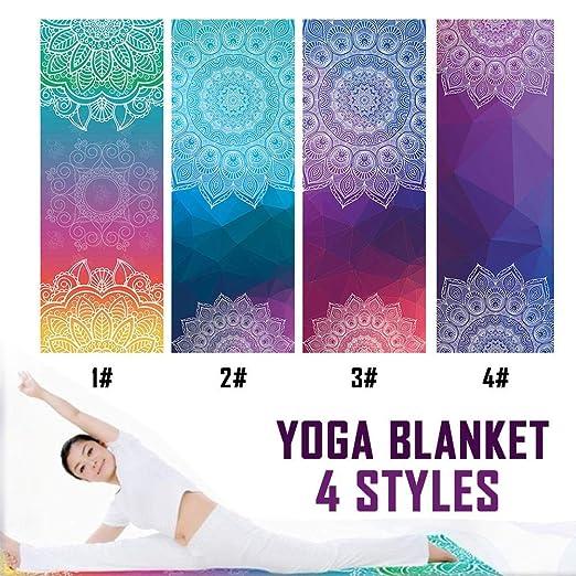 succeedw Manta de Yoga Manta de meditación Mandala, Anti ...