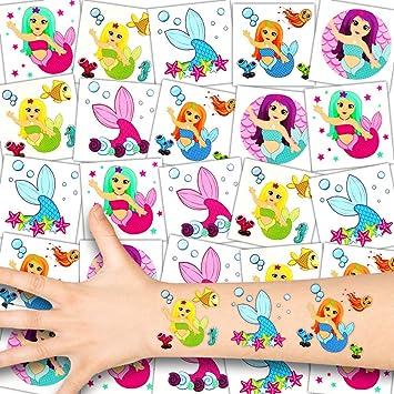 German Trendseller® - 36x Sirenas Niños Tatuajes - Conjunto ...