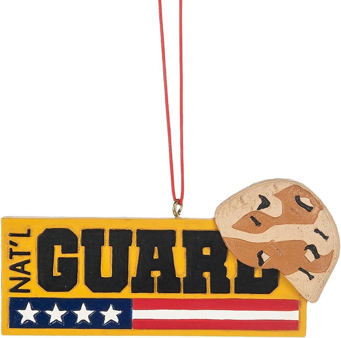 National Guard Camo Helmet Sign Resin Stone Christmas Ornament
