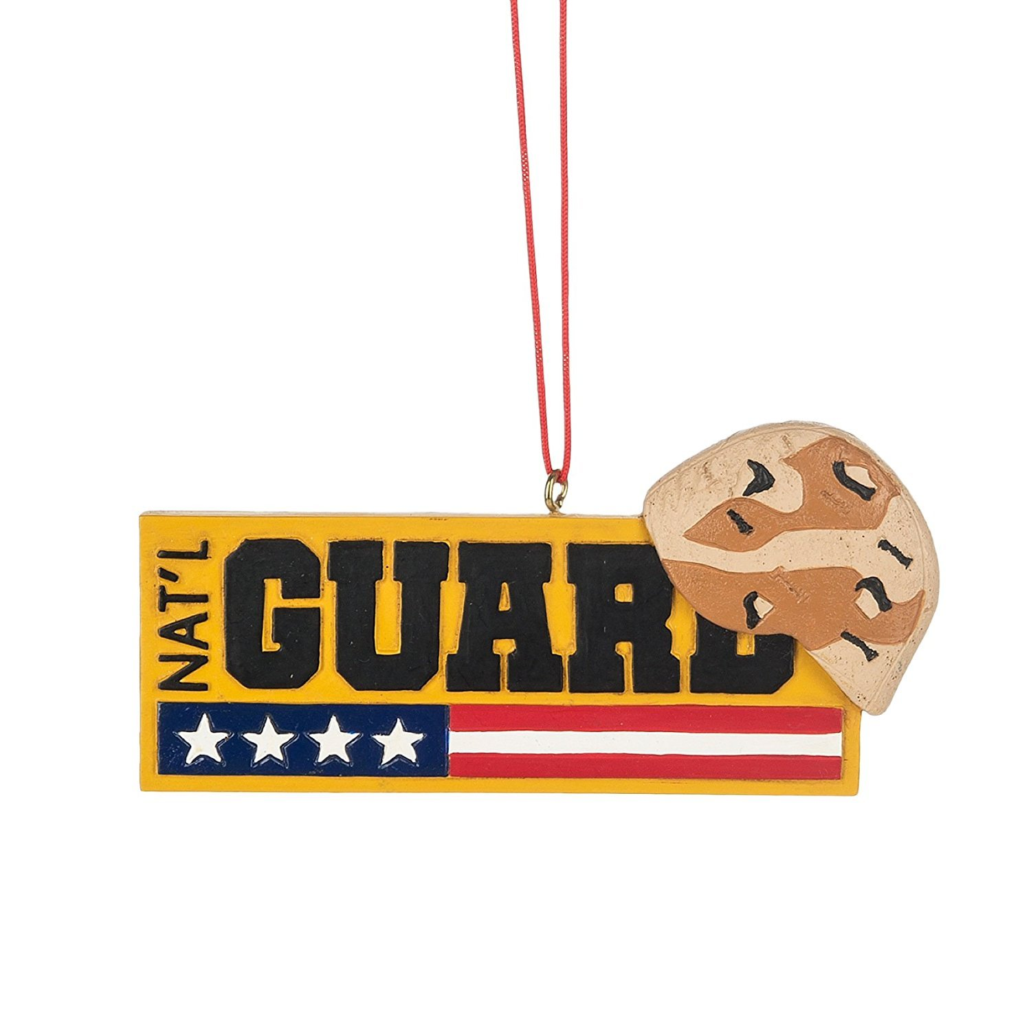 National Guard Camo Helmet Sign Resin Stone Christmas Ornament Midwest CBK