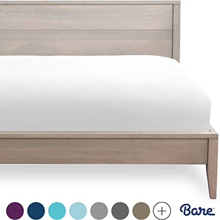 Amazon Com Bare Home Fitted Bottom Sheet Twin Extra Long