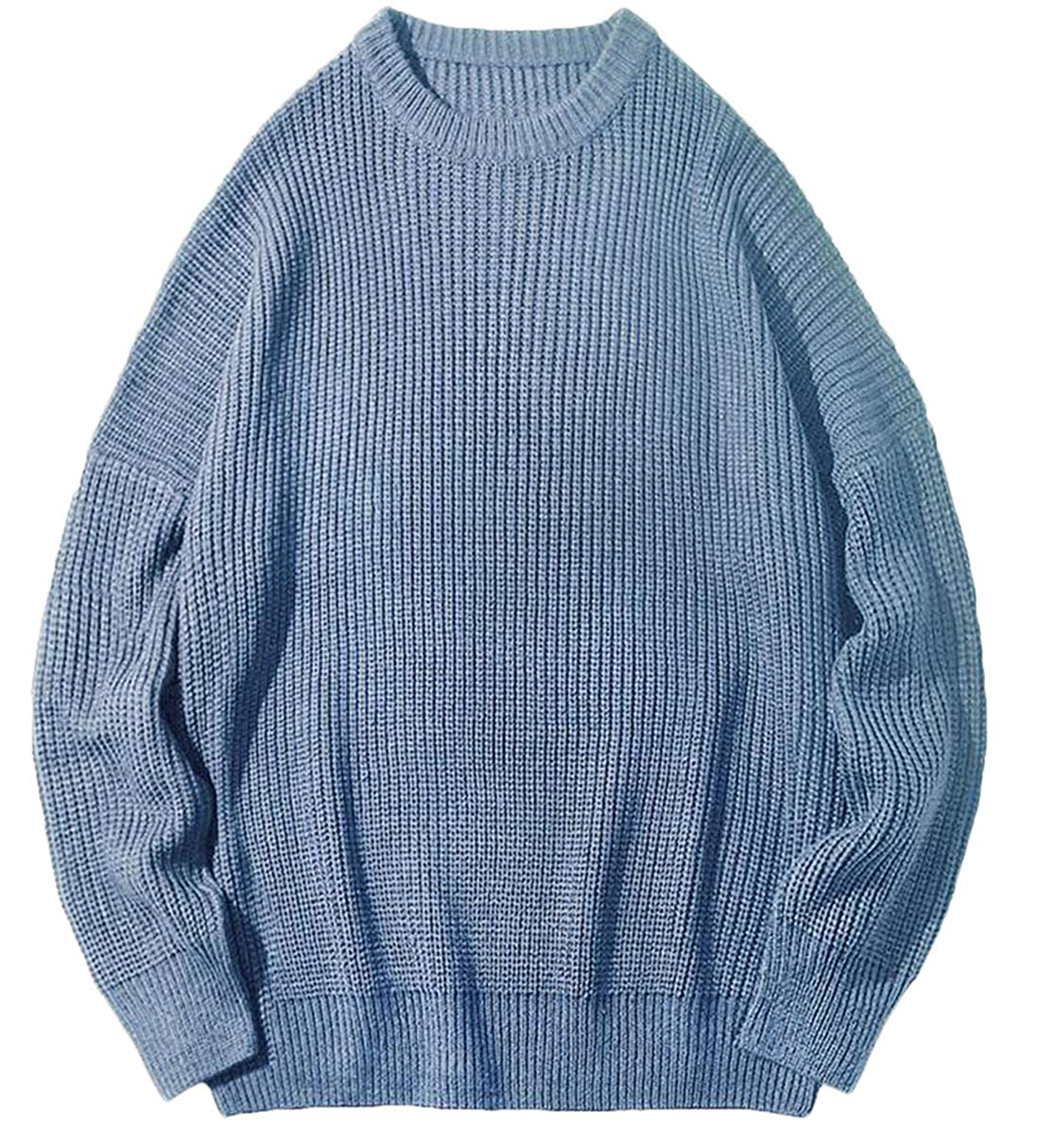 Frieed Mens Stylish Pullover Top Crew Neck Long Sleeve Knitting Casual Baggy Sweater