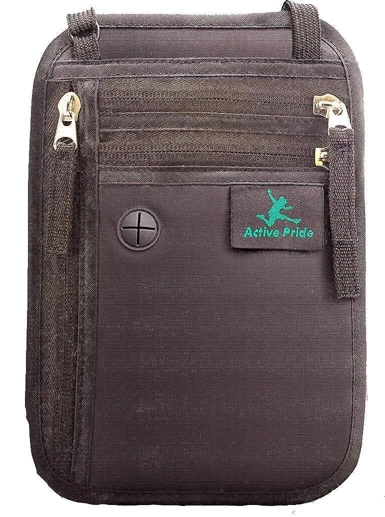 Portadocumentos de cuello - Bolso de viaje para el cuello - Porta Pasaporte de cuello con Bloqueo RFID - Cartera de Viaje Anti-Robo para Mujeres, ...