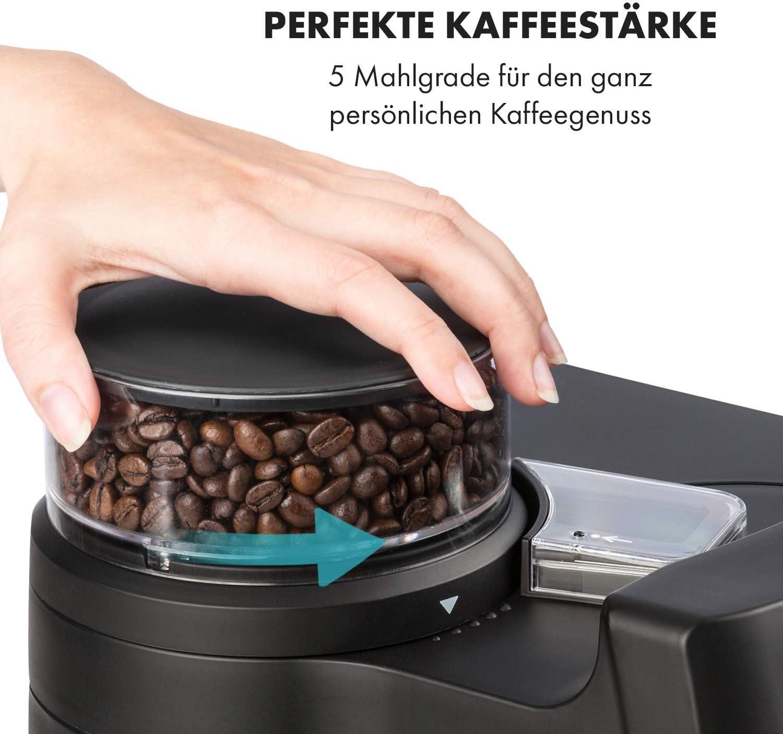 Kaffeemaschine mit Mahlwerk - Einstellung des Mahlgrads