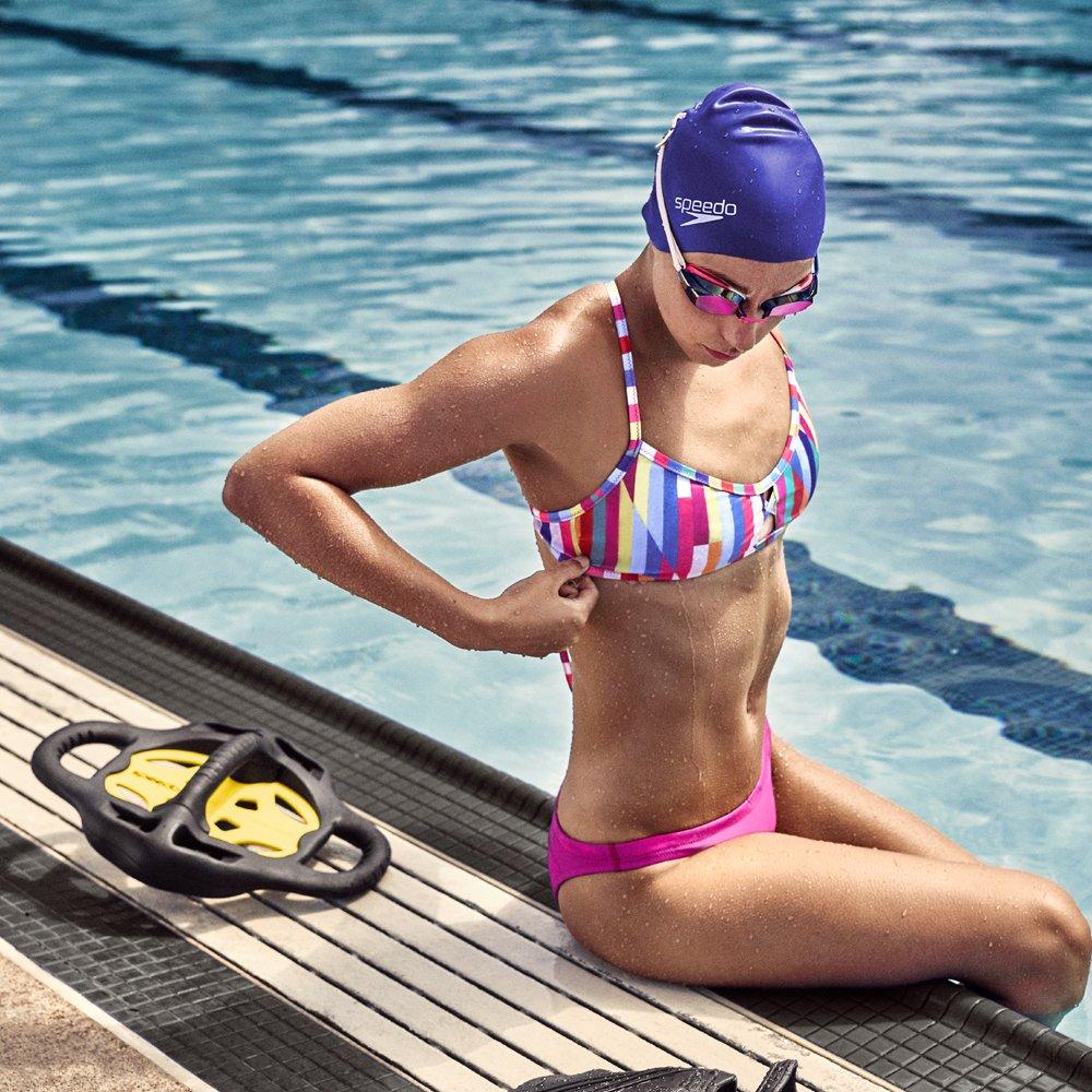 Speedo Women's Vanquisher 2.0 Mirrored Swim Goggles, Panoramic, Anti-Glare, Anti-Fog with UV Protection, Aqua, 1SZ by Speedo (Image #6)