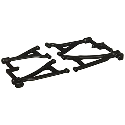 RPM 80692 Front Upper and Lower A-Arms for 1/16 E-Revo, Black: Toys & Games