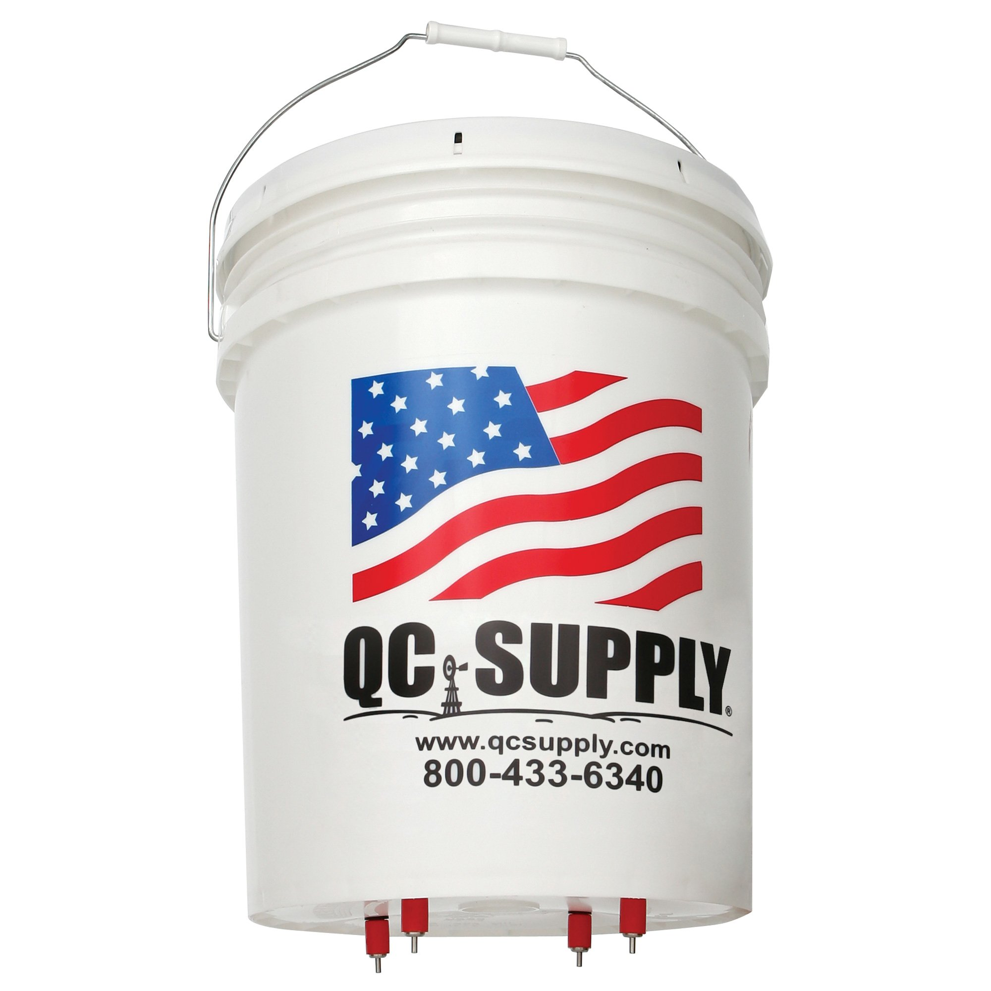 Hanging Bucket Poultry Nipple Waterer - 5 Gal by QC Supply
