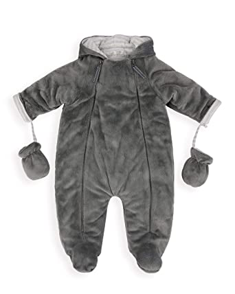 d553f5779 The Essential One - Baby Unisex Grey Pramsuit with Fur Lining - Grey ...