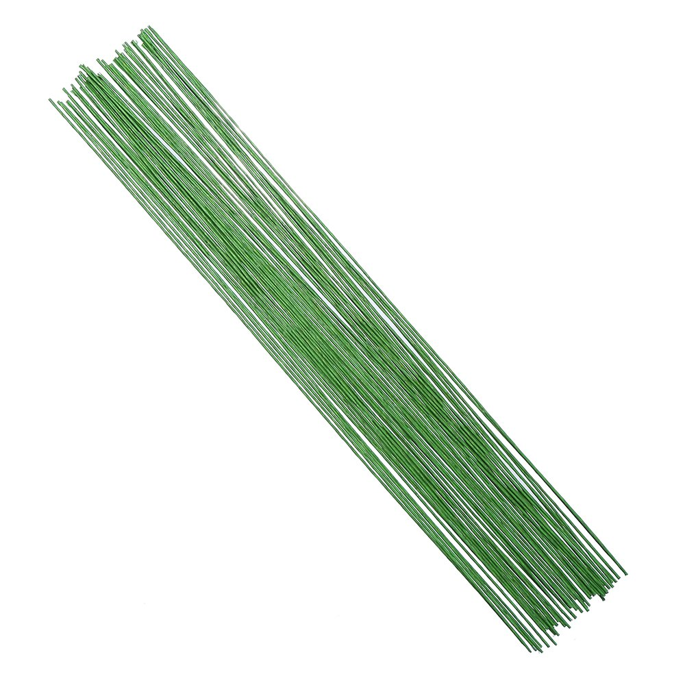 Amazon.com: DECORA 18 Gauge Green Floral Stem Wire for Artificial ...