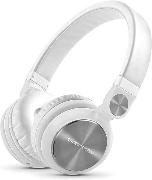 Energy Sistem Headphones DJ2 (Auriculares Estilo DJ, Plegables, con rotación 180º, Cable extraíble, micrófono y Manos Libres)- Blanco: Amazon.es: Electrónica