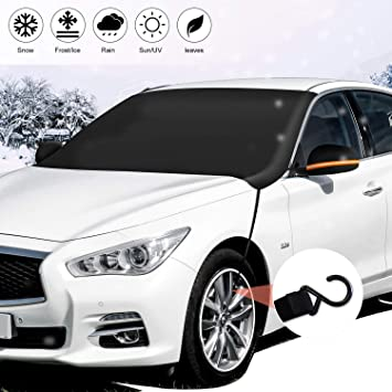 Van or Automobile 85 x 61 SUV Magnetic Windshield Snow Cover Truck Extra Large Frost Ice Cover Sunshade Snow Covers with Magnet Edges Fits Most Car