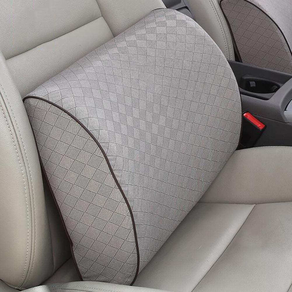 MIAO Car Natural Latex Lumbar Cushion - Premium Lumbar Lower Back Pain Lumbar Pillow, Protect and Soothe Your Back - Improve Your Posture - Soft & Firm Balanced Lumbar Support Pillow