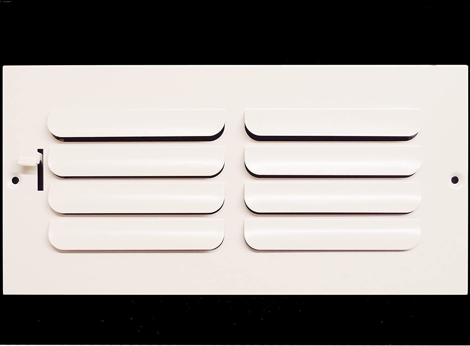 High Airflow Grille Register Vent Duct Cover 14 X 4 1-Way Fixed Curved Blade AIR Supply Diffuser Sidewall or Ceiling White HVAC Premium