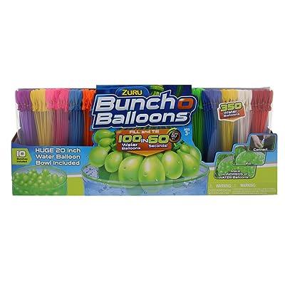 "ZURU Bunch O Balloons, Fill in 60 Seconds, 350 Water Balloons, 20"" Water Balloon Bowl Included: Toys & Games"