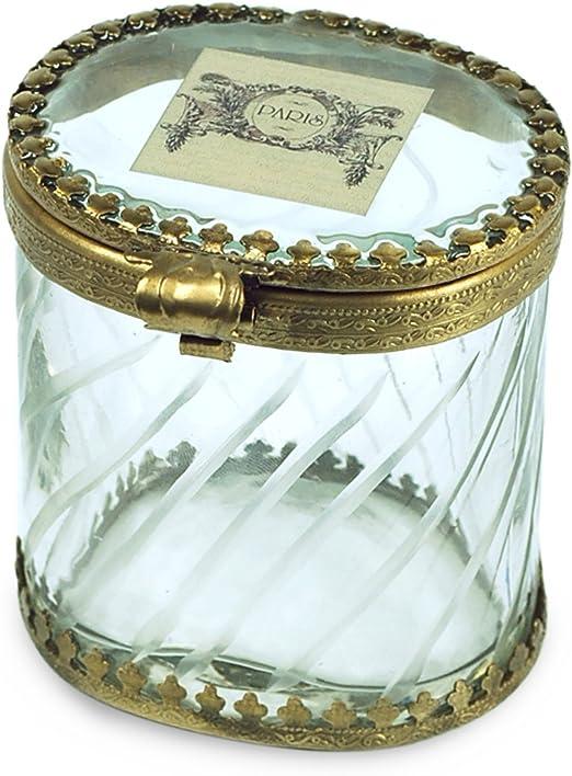 Art Deco Home - Caja Retro Cristal Dorada 8 cm - 9393: Amazon.es ...