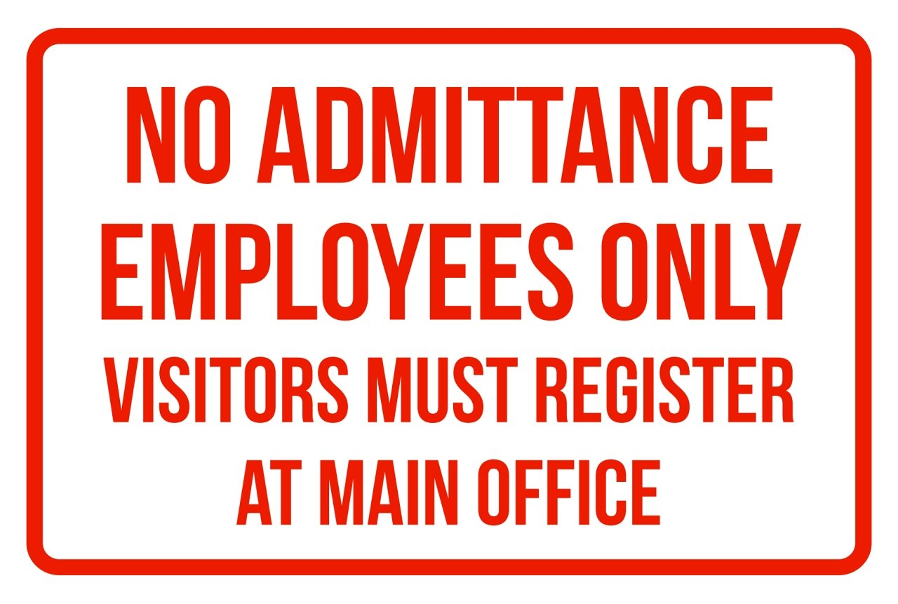 Amazon.com: No Admisión los empleados solamente visitantes ...