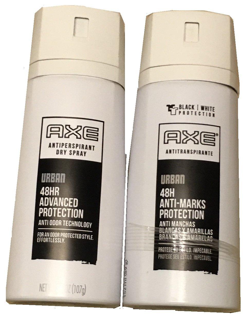Axe Antiperspirant Dry Spray, Urban 3.80 oz (Pack of 2)