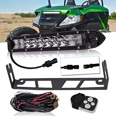 """QUAKEWORLD DOT Approved 10"""" 11 Inch 50W Single Row LED Light Bar Low Profile Offroad"""