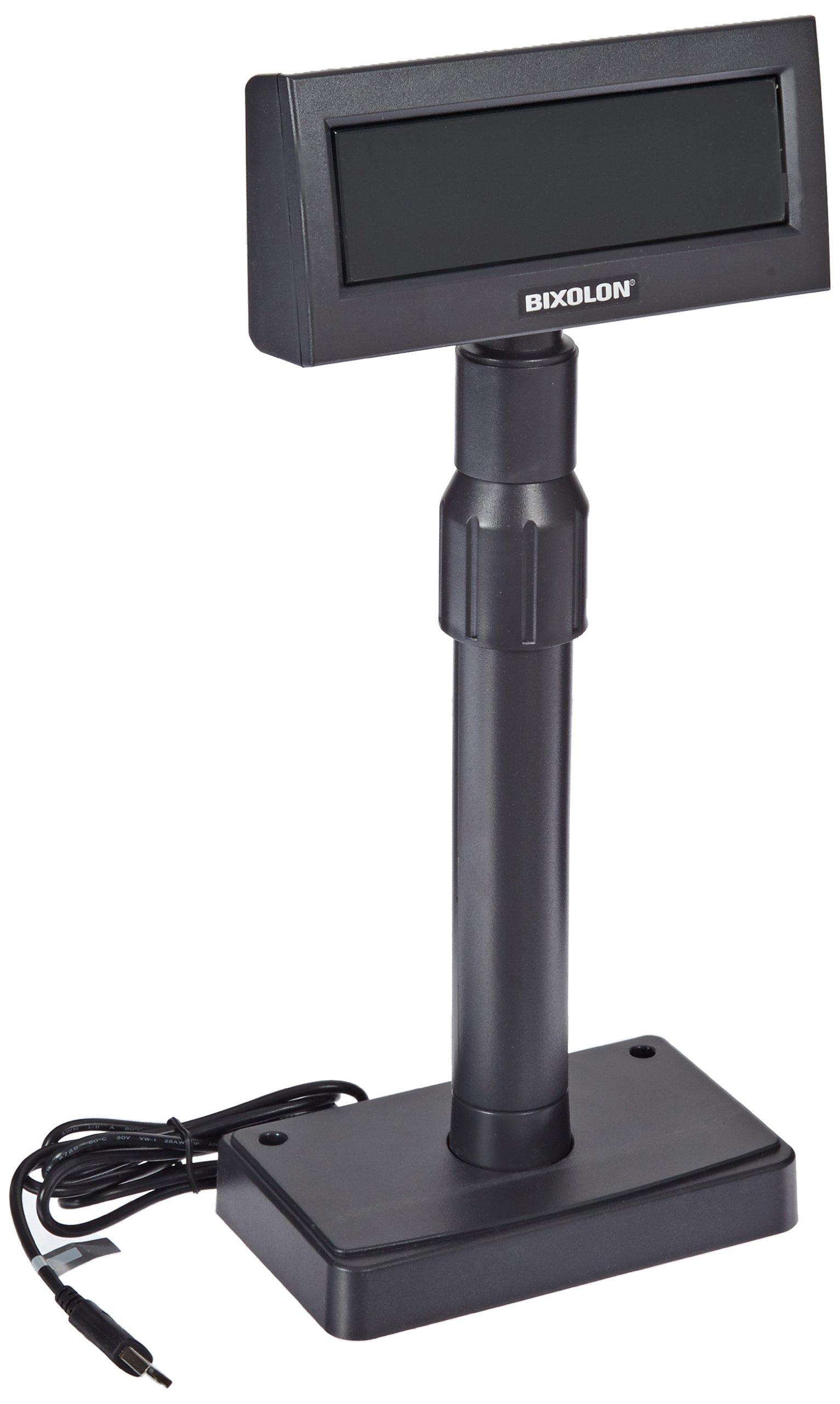 Bixolon BCD-1100 Vacuum Fluorescent Customer Pole Display with USB Interface, 5-24 VDC, Black