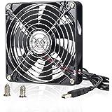 ELUTENG Ventola USB 140mm 5V Grande Volume d'aria Ventilatore USB Portatile Silenzioso Raffreddamento PC di Gioco Cooler Fan 14cm per PC / Scatola TV / Router / Proiettore