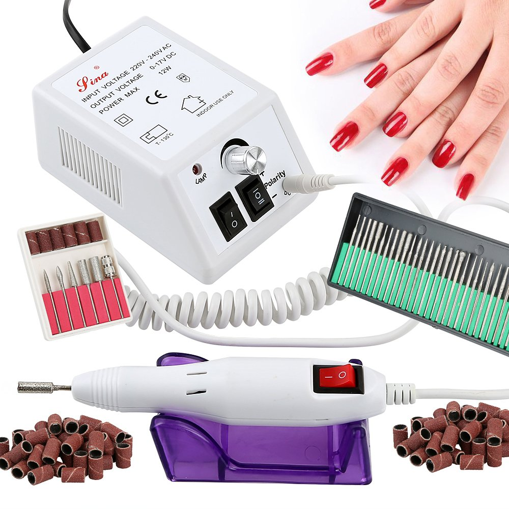 Hotrose Electric Nail Drill Machine for Acrylic Nails, Electric Nail File Set with Nail Polisher Set for Manicure and Pedicure