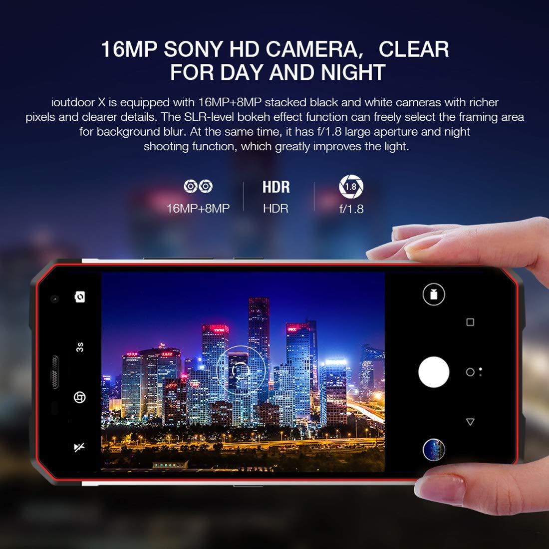 on sale e7062 9e068 Amazon.com: ioutdoor X Rugged Phone 6GB+128GB 5.7 inch Android 8.1 ...