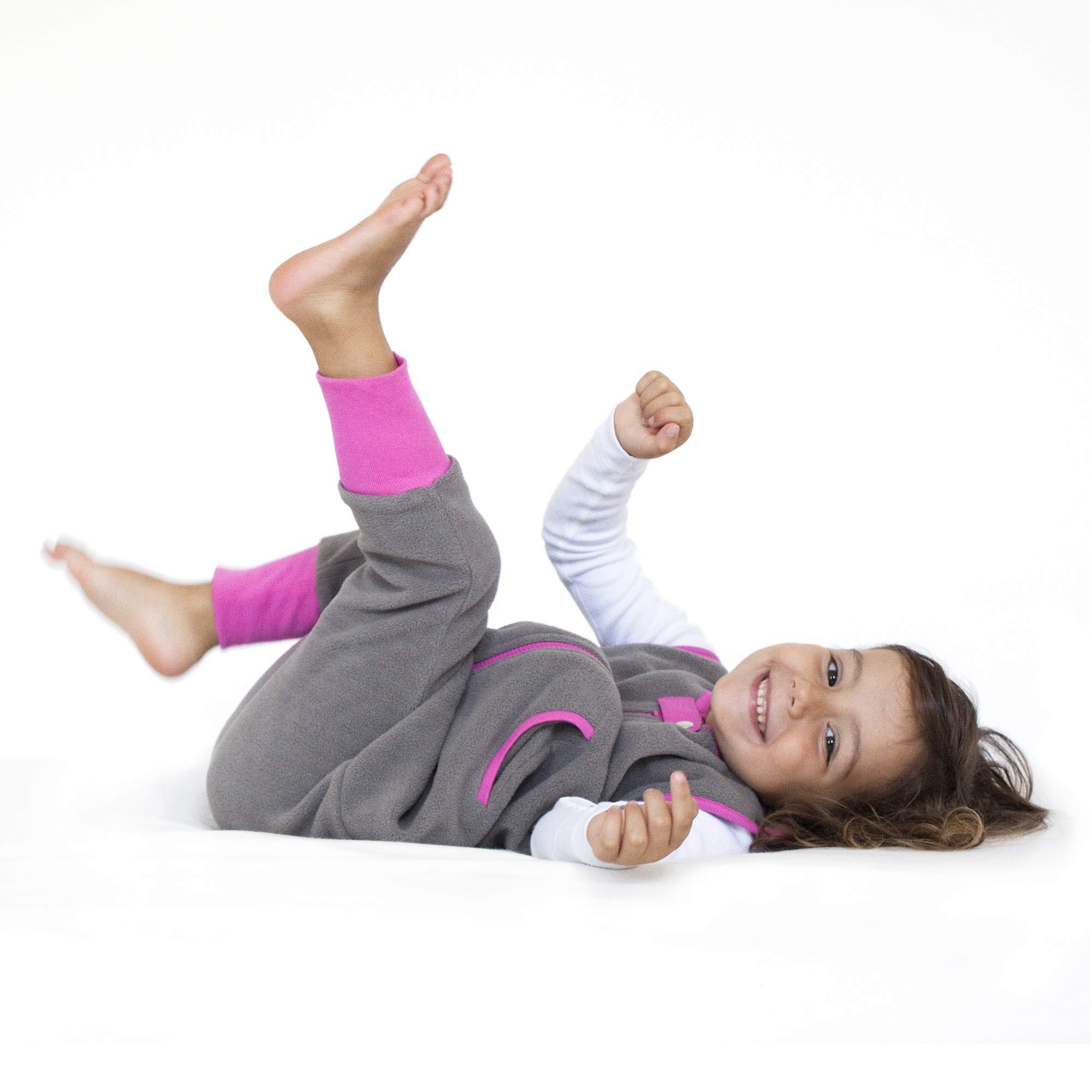 baby deedee Fleece Kicker Sack with Feet Sleep Bag, 2-4T, Slate, Girl by baby deedee