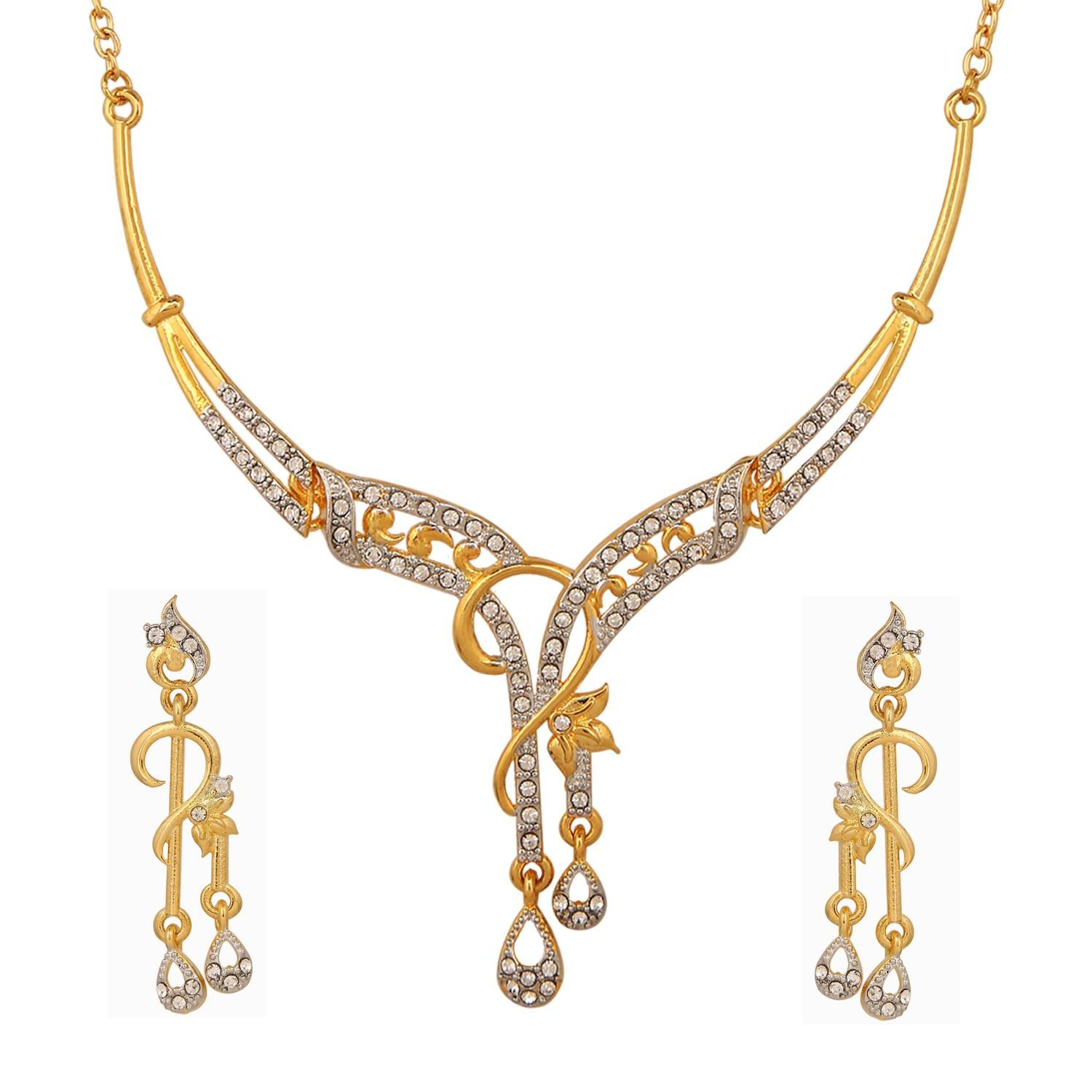 p for at designer yellow set alloy white buy women necklace youbella