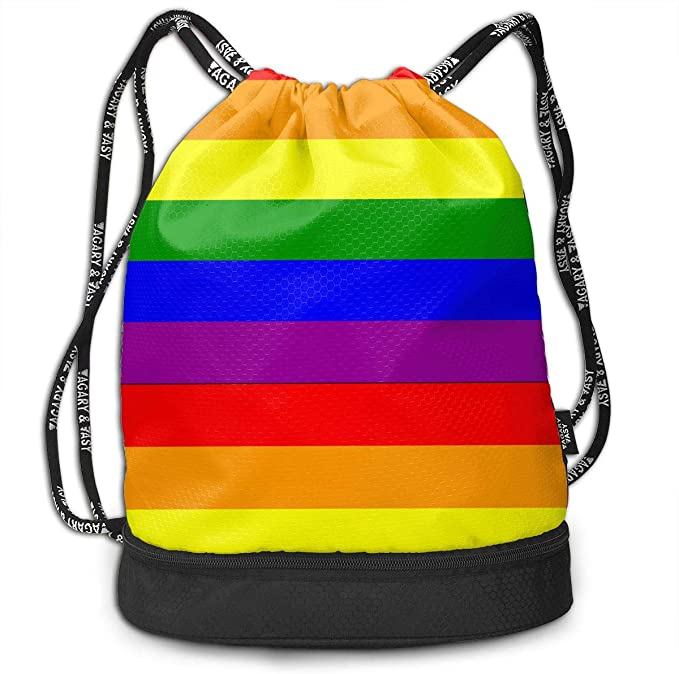 American British Flag Drawstring Bag Multifunctional String Backpack Custom Cinch Backpack Rucksack Gym Bag
