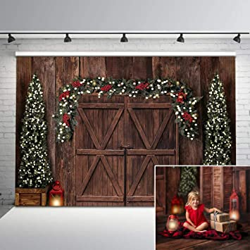 New Christmas Backdrop Retro Wood Floor Photo Background 7x5 Sparkle Christmas Lights Decorations Photography Backdrops for Children Kids Newborn