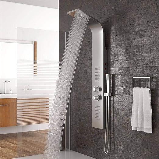 HSDMXX - Juego de Grifo de Ducha para baño con luz LED, Cascada ...