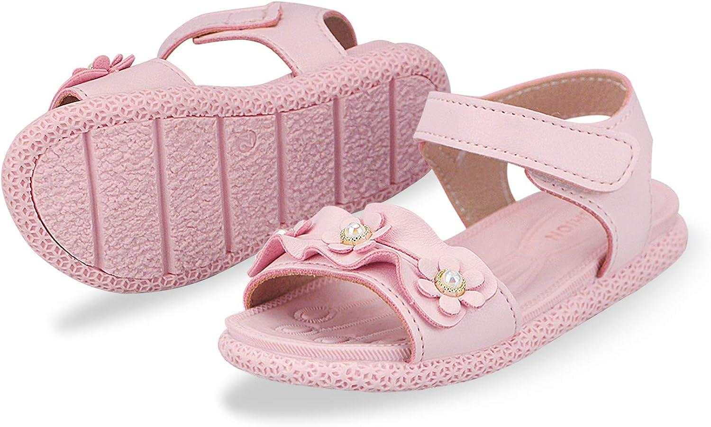 Sandalias con Punta Abierta para Ni/ñas Peque/ñas Ni/ño Infantiles Zapatos de Vestir Calzado Verano para 1-6 A/ños