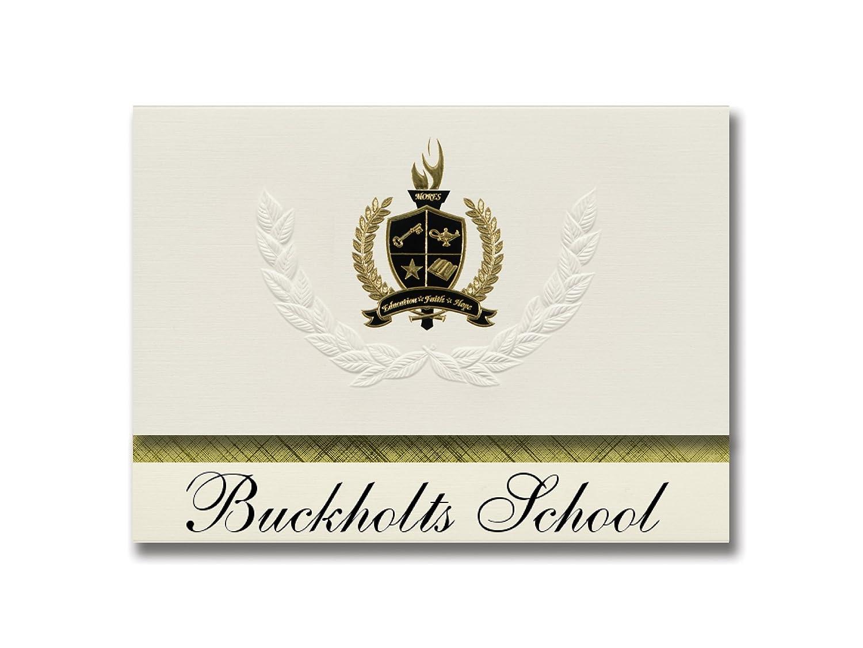 Signature Ankündigungen buckholts Schule (buckholts, (buckholts, (buckholts, TX) Graduation Ankündigungen, Presidential Stil, Elite Paket 25 Stück mit Gold & Schwarz Metallic Folie Dichtung B078VFM157 | Exquisite Handwerkskunst  e96fc0