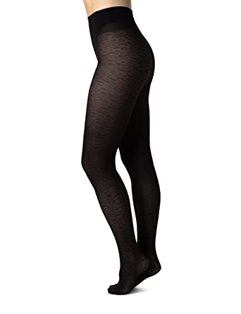aed82449aaf SWE-S. Swedish Stockings Emma Leopard Black Tights 60 Den Luxury Patterned  Pantyhose for