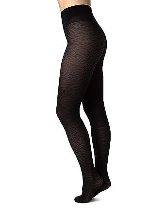 605ddf03899aa SWE-S. Swedish Stockings Emma Leopard Black Tights 60 Den Luxury Patterned  Pantyhose for