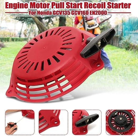 Recoil Starter Engine Motor Pull Start Recoil Starter Rewind Kit for Honda GCV135 GCV160 EN2000