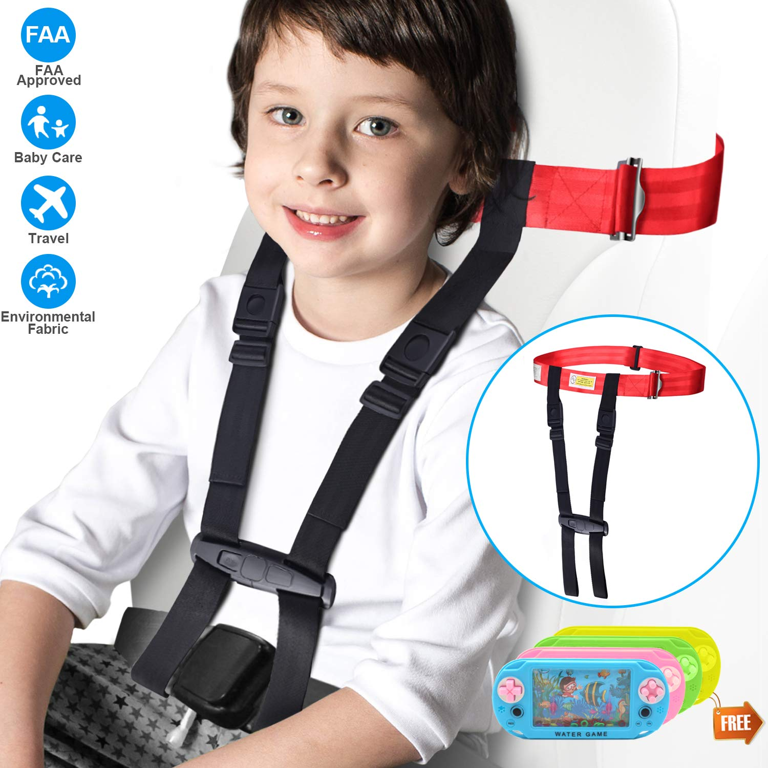 Kids Fly Safe Airplane Harness, Cares Harness for Toddlers in Fight, FAA Approved.