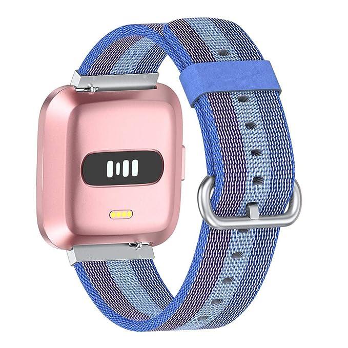 Webla - Correa de repuesto de nailon ligera para Fitbit Versa Lite, azul: Amazon.es: Bricolaje y herramientas