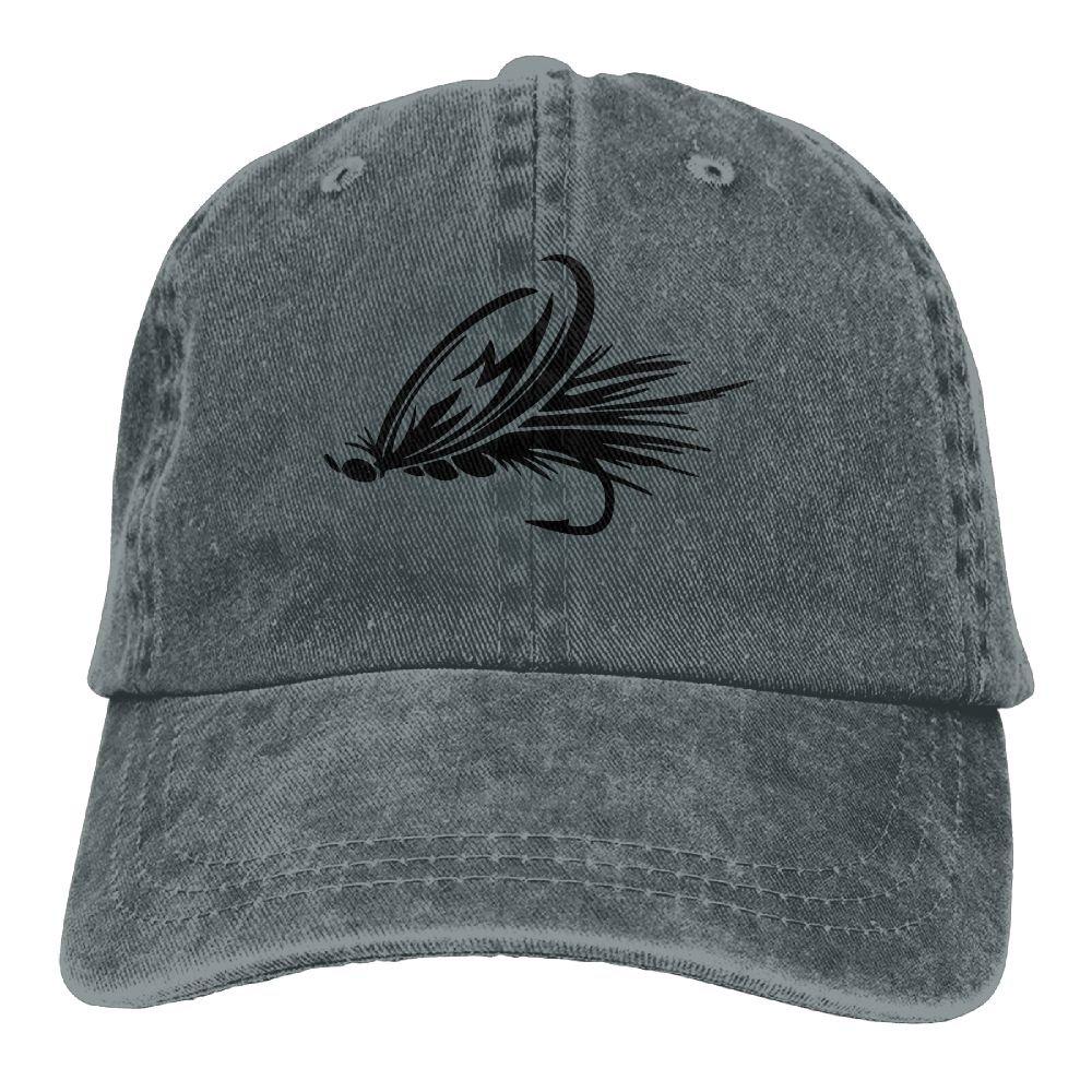 7cbff3a1 Gorgeously Fly Fishing Lure Denim Baseball Caps Hat Adjustable Cotton Sport  Strap Cap For Men Women at Amazon Men's Clothing store: