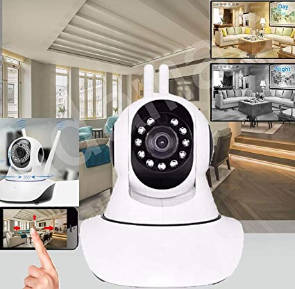 Eagle V380 Realtek Keye/Camhi WiFi Smart Camera with HD Night Vision (White)