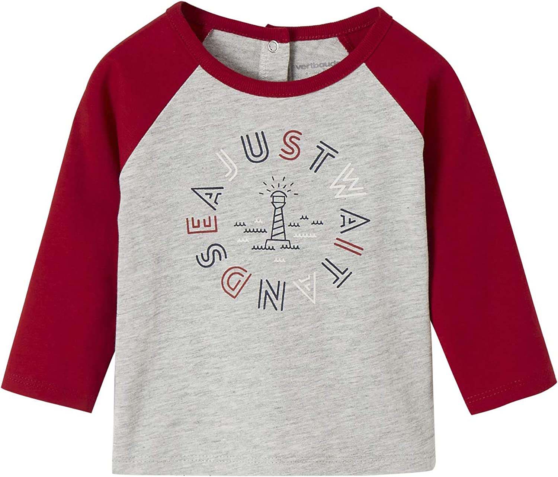 VERTBAUDET Camiseta Bicolor fantasía bebé niño Gris Claro Jaspeado 12M-74CM: Amazon.es: Ropa y accesorios
