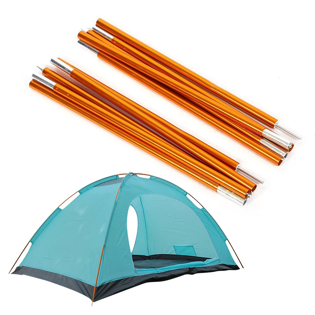 2pcs Aluminum Alloy Tent Pole Support Replacement Accessory for Camping Hiking, 142 inch/pc (Style 2) by ZJchao